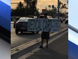 Medical marijuana sign grabbing attention in PHX