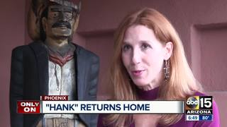 Stolen wooden cowboy returned to PHX homeowner