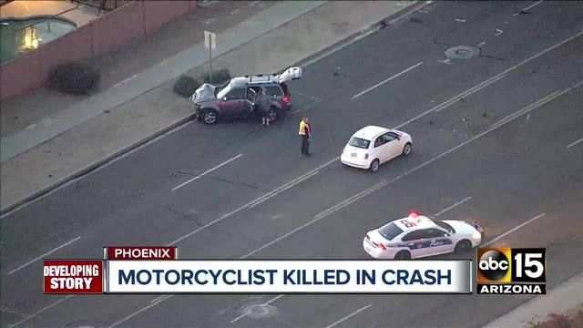Phoenix Police Motorcyclist Killed In Crash Near 19th Avenue And Union Hills