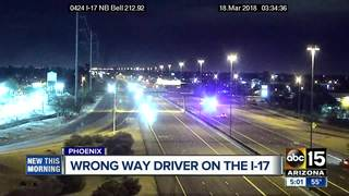 DPS: Wrong way driver stopped on PHX freeway