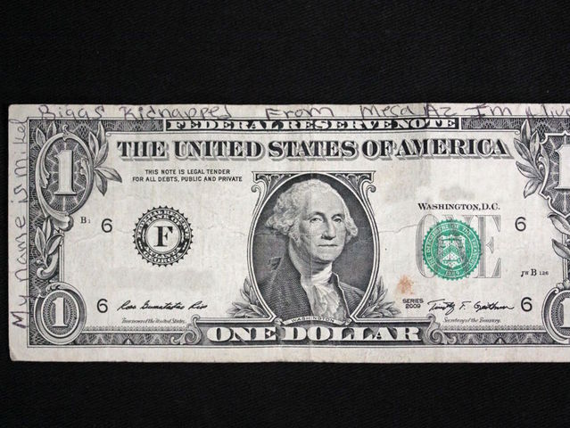 Tip on missing Arizona girl written on dollar bill found in Wisconsin