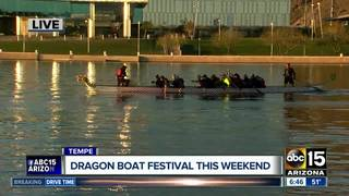 Dragon boat festival in Tempe Saturday, Sunday