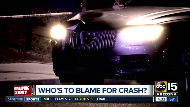 Uber's self-driving vehicle  kills a pedestrian, who is at fault?