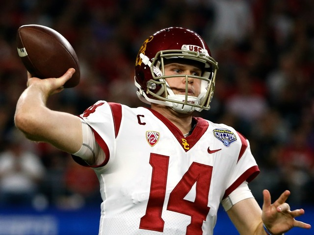 After not throwing at combine, USC's Sam Darnold impresses at Pro Day