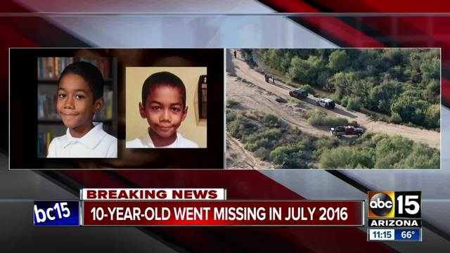 Found bones are from missing Buckeye boy