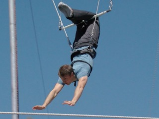 Flying trapeze lessons at The Phoenician!