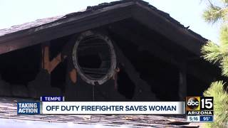 Tempe woman saved by off-duty firefighter