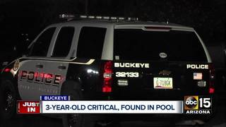 PD: Buckeye toddler pulled from pool has died
