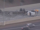 Truck rollover blocks I-17 to L-101 in north PHX