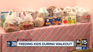 PHX parents organize food drive ahead of walkout