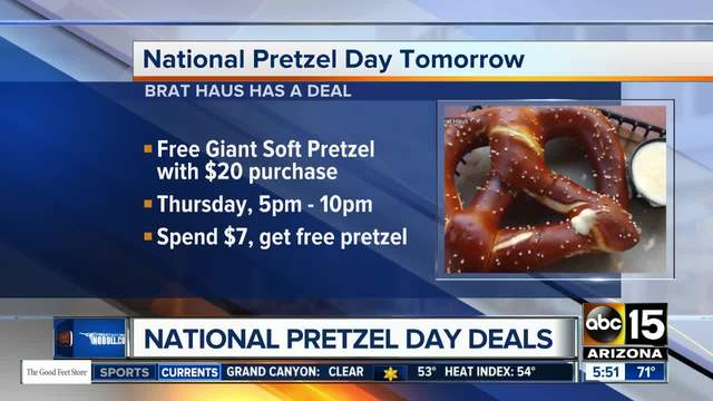 Free pretzels and discounts for National Pretzel Day