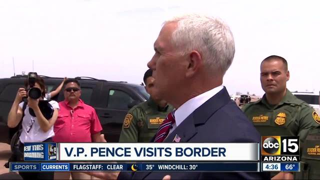 VP Pence arrives for Arizona tax policy tour