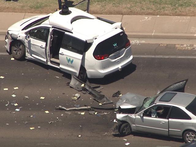 Self-driving auto  crash in Arizona: Waymo vehicle  involved in Chandler crash