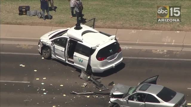 Again! Self-driving vehicle involved in crash in Chandler