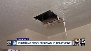 Glendale woman upset over plumbing problems