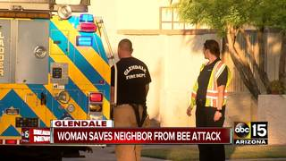 Woman helps neighbor stung by bees in Glendale