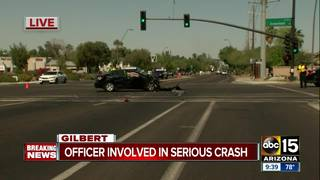 PD: Officer involved in serious Gilbert crash