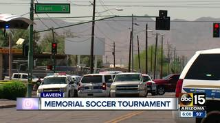 Memorial soccer event held for shooting victim