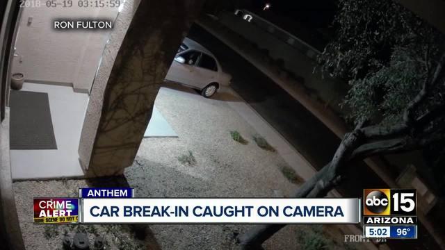 Anthem car break-in suspect caught on camera