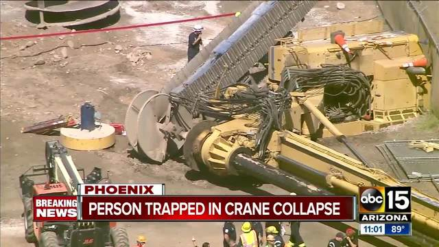 One person unaccounted for after crane topples over near Sky Harbor