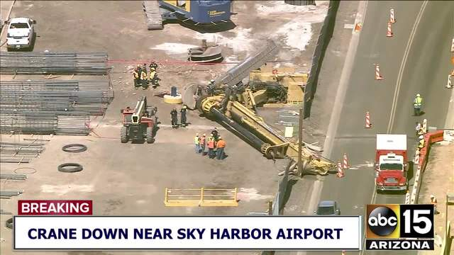 Crews respond to crane down near Sky Harbor airport