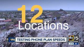 Testing phone plan speeds around the Valley