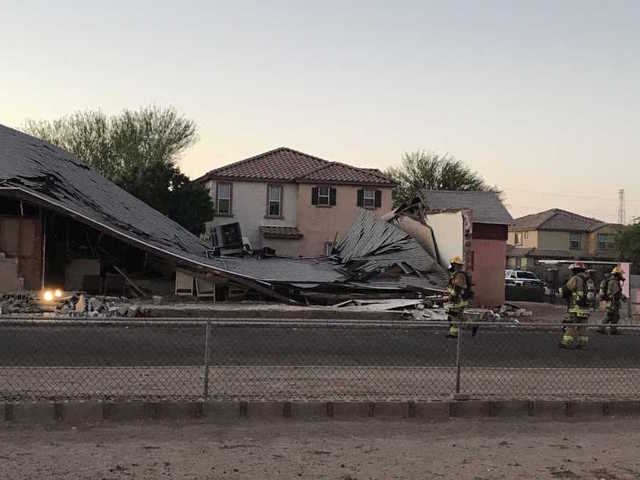 Roof collapse and explosion at Phoenix church