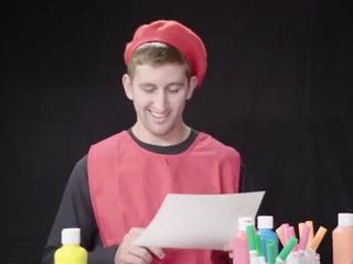 Watch Josh Rosen try to draw the Cardinals' logo