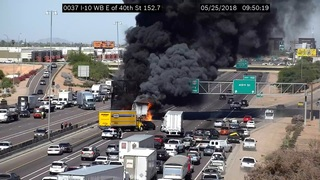 PHOTOS: Massive truck fire on I-10 near 40th St