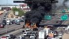 VIDEO: Massive truck fire shuts down I-10 in PHX