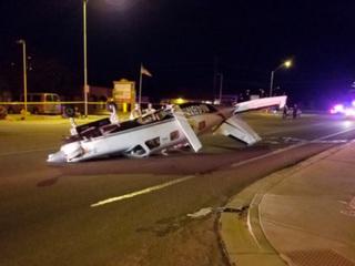 Plane makes emergency landing on Prescott road