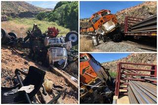 One dead in train collision northeast of Kingman