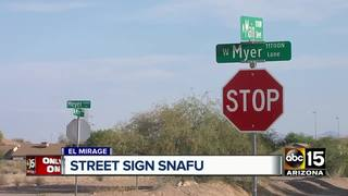 El Mirage residents puzzled by misspelled sign