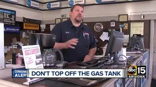 Experts warn topping off gas tank costs more
