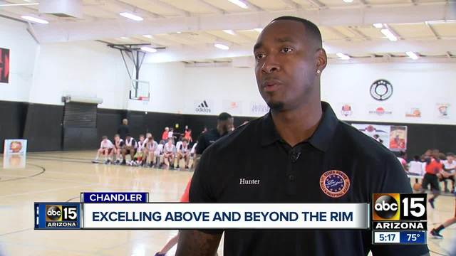former nba player teaching youth to excel above and beyond the rim in chandler