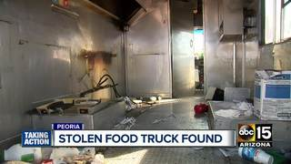 Peoria food truck found, stripped of equipment