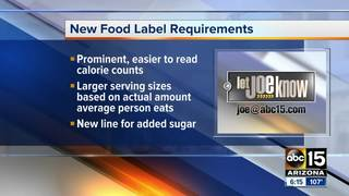 FDA delays changes to nutrition labels