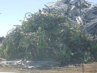 Dozens of Lime bikes found at Valley scrapyard