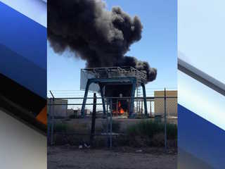 Crews battling commercial fire in Casa Grande