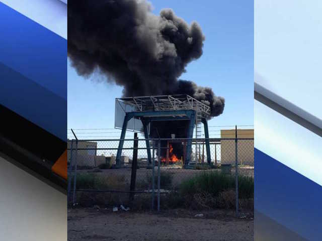 Crews battling commercial fire in Casa Grande