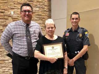 Littlefield, AZ woman honored for saving deputy