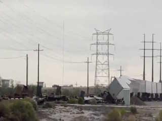 WATCH: Rain causes train derailment near Tucson