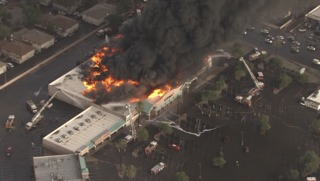 LIVE COVERAGE: Fire, roof collapse at Safeway