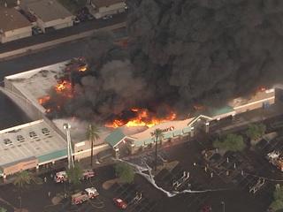 Massive inferno destroys north Phoenix Safeway