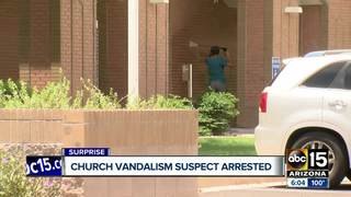 Teen arrested after vandalizing Surprise church