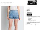 CIE Denim selling 'upside-down' shorts for $385