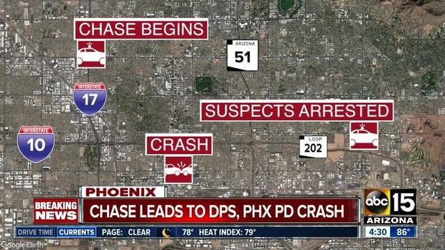 DPS, Phoenix PD involved in crash during pursuit