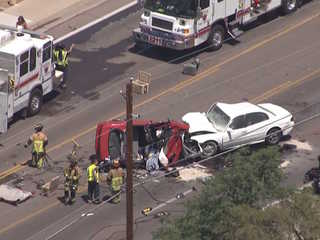 FD: 1 dead, 3 injured in Mesa crash
