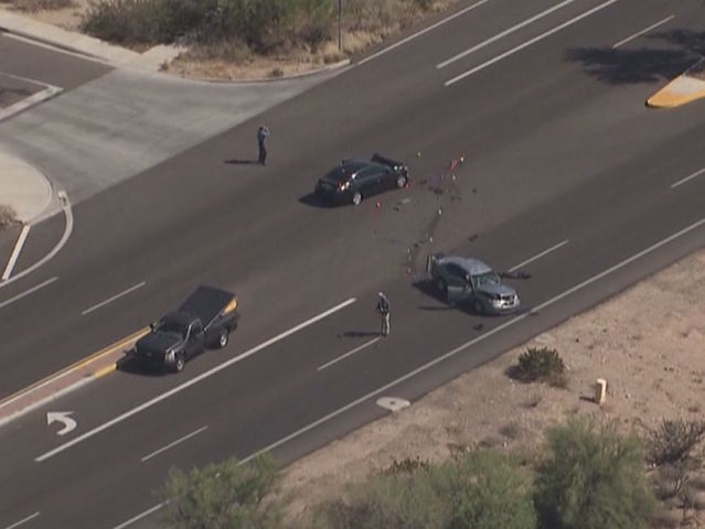 PD: Officer critical after crash in north PHX