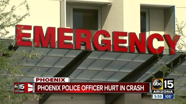 Phoenix officer remains in critical condition following serious crash